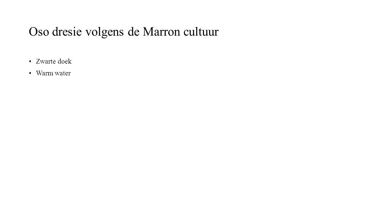 Oso dresie volgens de Marron cultuur Zwarte doek Warm water
