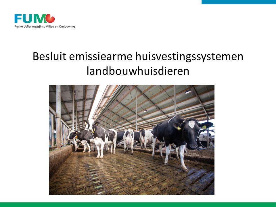 Besluit emissiearme huisvestingssystemen landbouwhuisdieren