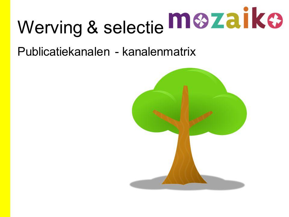 Werving & selectie Publicatiekanalen - kanalenmatrix