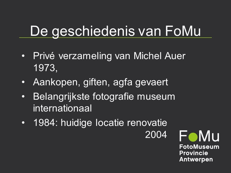 De geschiedenis van FoMu Privé verzameling van Michel Auer 1973, Aankopen, giften, agfa gevaert Belangrijkste fotografie museum internationaal 1984: h