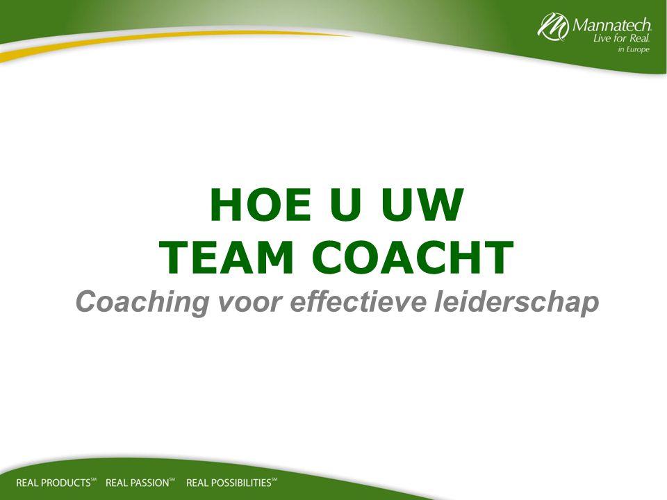 HOE U UW TEAM COACHT Coaching voor effectieve leiderschap