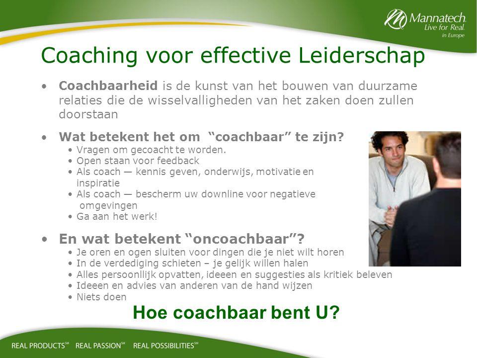 """Coachbaarheid is de kunst van het bouwen van duurzame relaties die de wisselvalligheden van het zaken doen zullen doorstaan Wat betekent het om """"coach"""