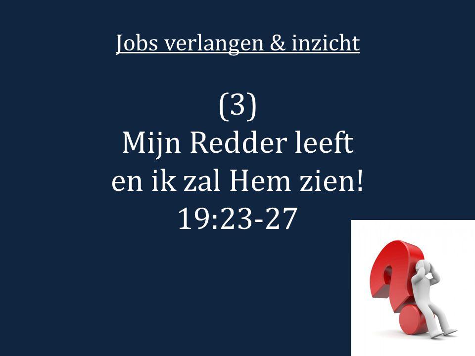 Jobs verlangen & inzicht (3) Mijn Redder leeft en ik zal Hem zien! 19:23-27