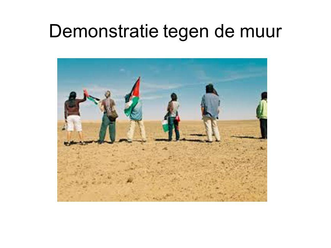 Demonstratie tegen de muur