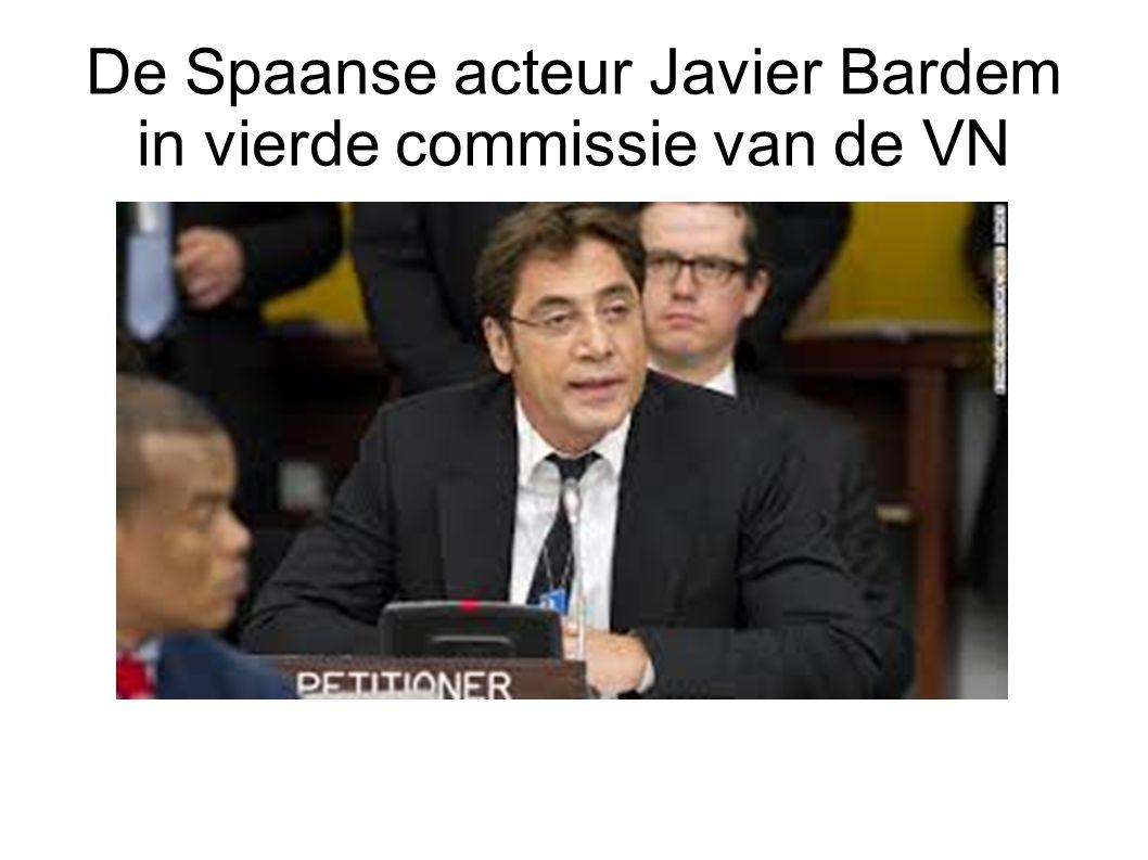 De Spaanse acteur Javier Bardem in vierde commissie van de VN