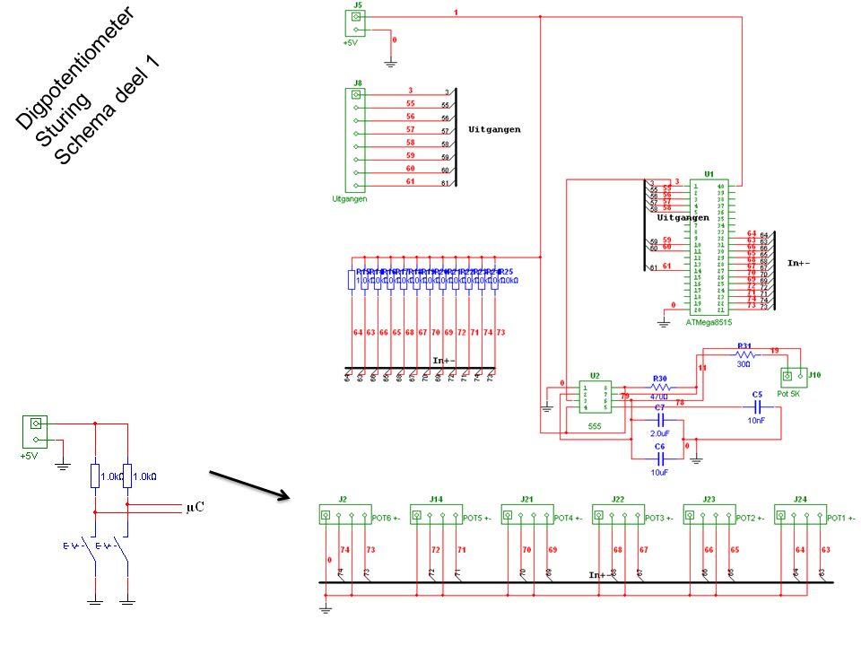 Digpotentiometer Sturing Schema deel 1