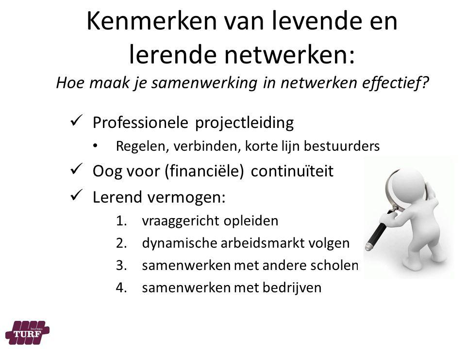 Kenmerken van levende en lerende netwerken: Hoe maak je samenwerking in netwerken effectief.