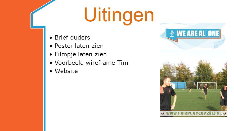 Uitingen Brief ouders Poster laten zien Filmpje laten zien Voorbeeld wireframe Tim Website