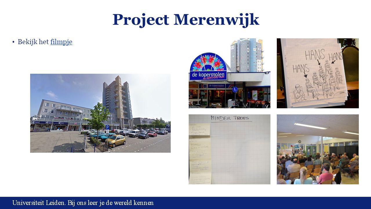 Project Merenwijk Bekijk het filmpjefilmpje