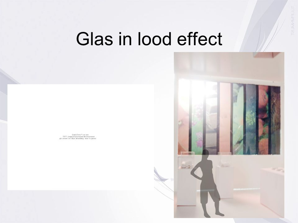 Glas in lood effect