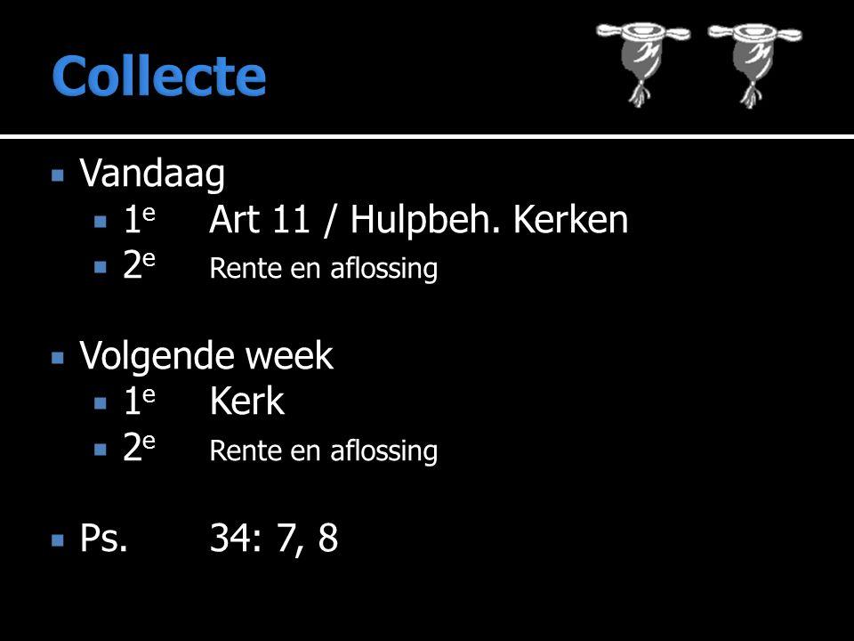  Vandaag  1 e Art 11 / Hulpbeh.