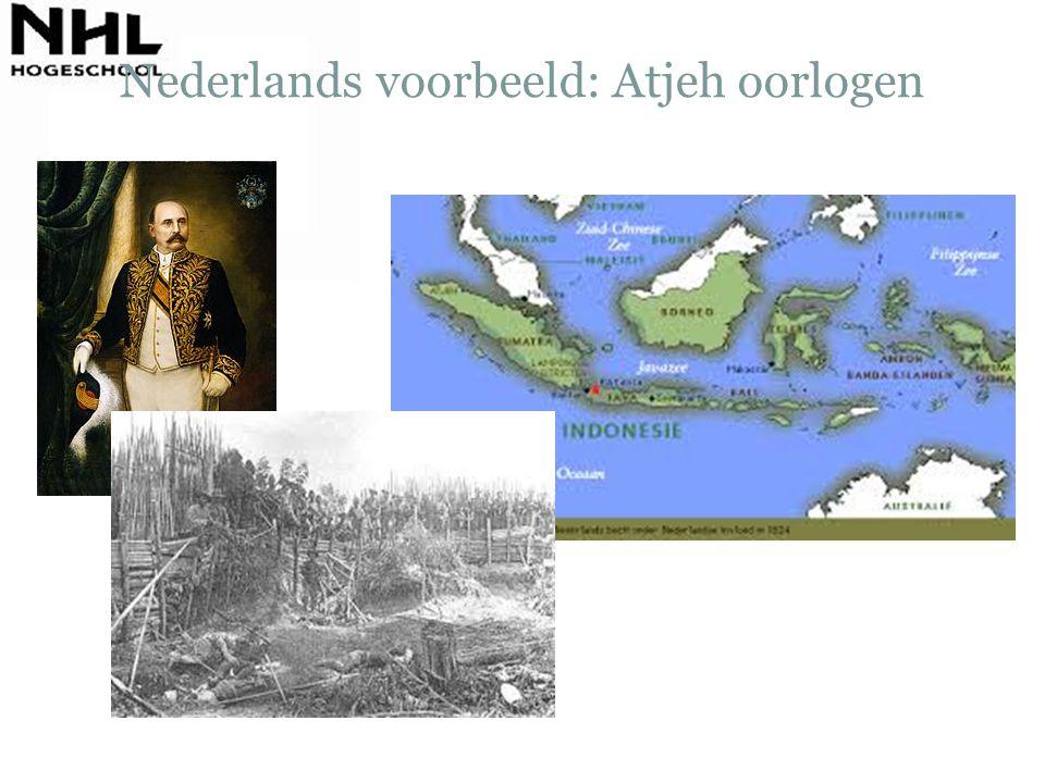 Nederlands voorbeeld: Atjeh oorlogen
