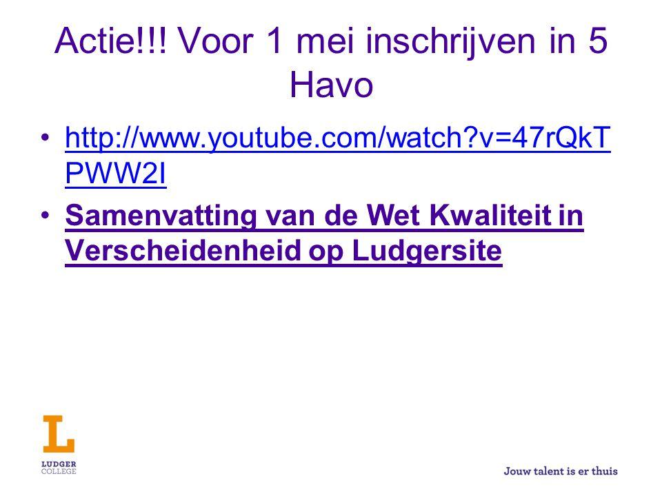 Actie!!! Voor 1 mei inschrijven in 5 Havo http://www.youtube.com/watch?v=47rQkT PWW2Ihttp://www.youtube.com/watch?v=47rQkT PWW2I Samenvatting van de W