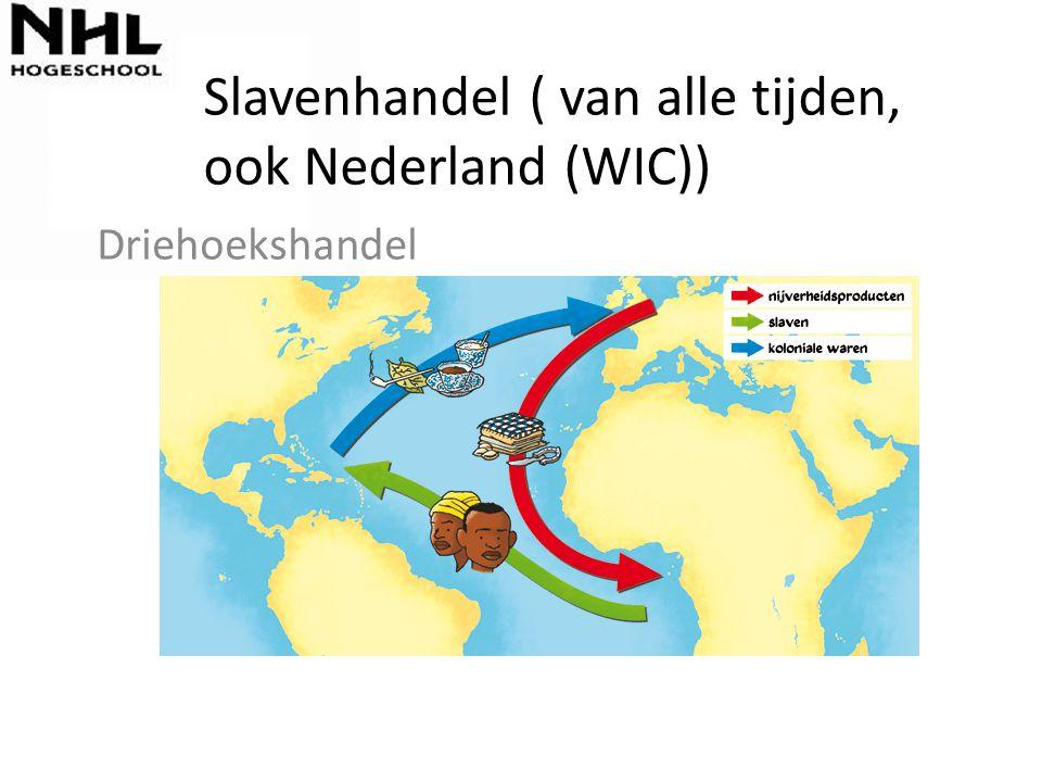 Slavenhandel ( van alle tijden, ook Nederland (WIC)) Driehoekshandel