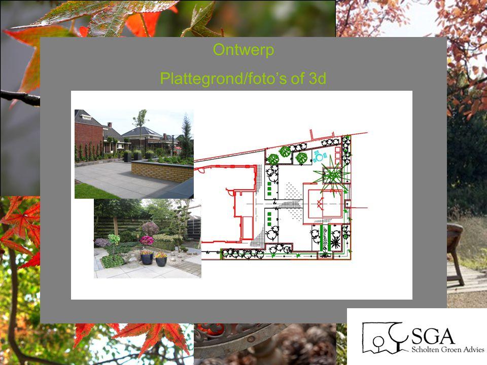 Ontwerp Plattegrond/foto's of 3d