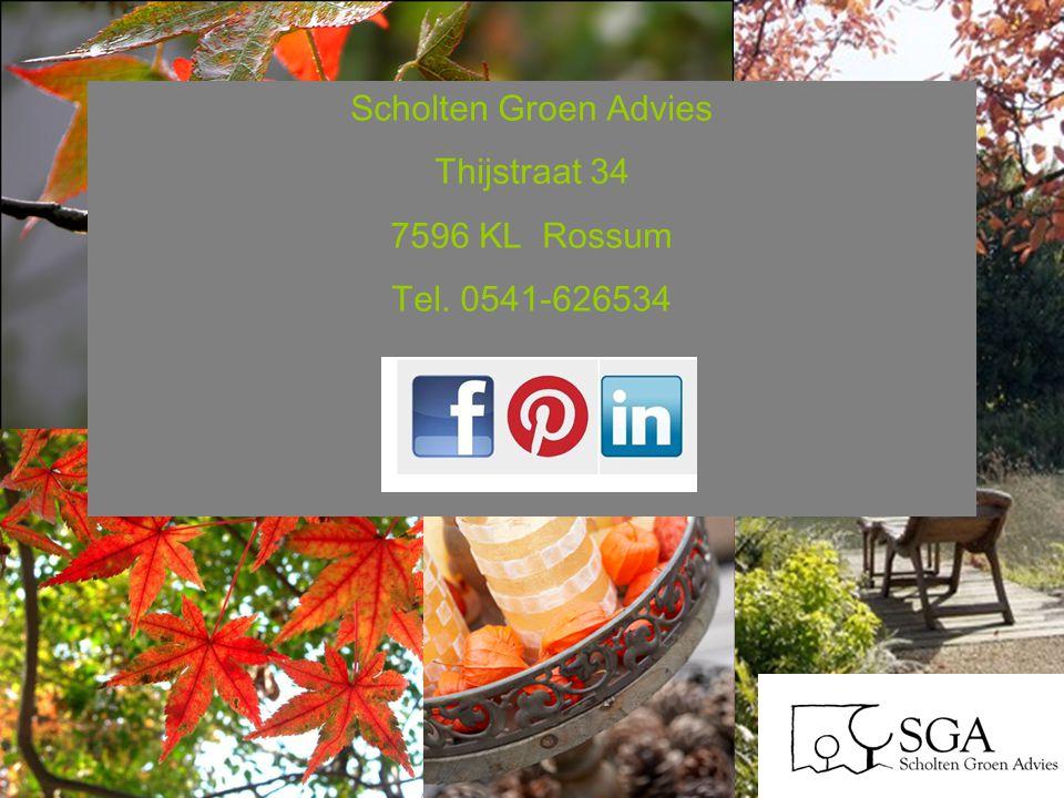 Scholten Groen Advies Thijstraat 34 7596 KL Rossum Tel. 0541-626534