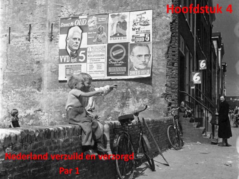 Hoofdstuk 4 Nederland verzuild en verzorgd Par 1