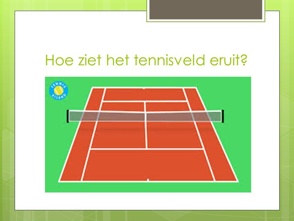 Hoe ziet het tennisveld eruit?
