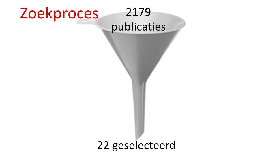 2179 publicaties Zoekproces 22 geselecteerd