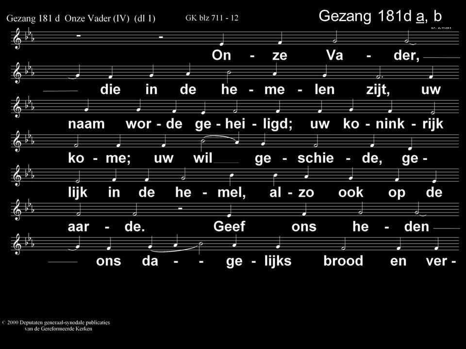Gezang 181d a, b