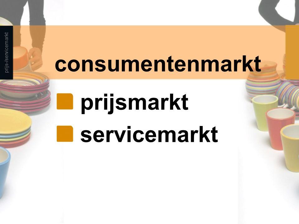 consumentenmarkt prijsmarkt servicemarkt prijs-/servicemarkt