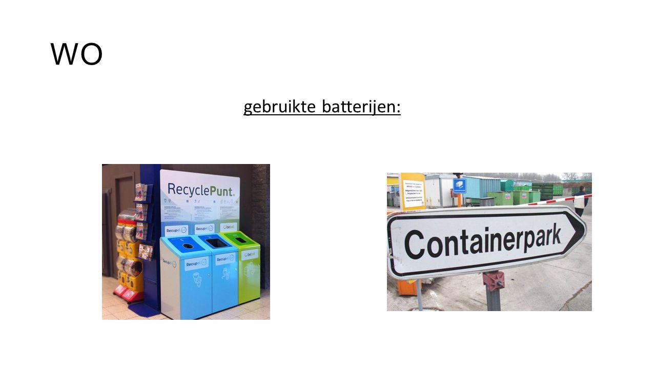 WO gebruikte batterijen:
