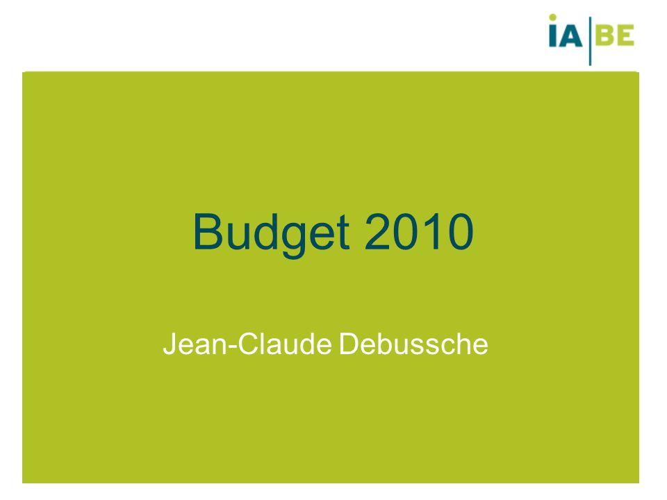 Budget 2010 Jean-Claude Debussche