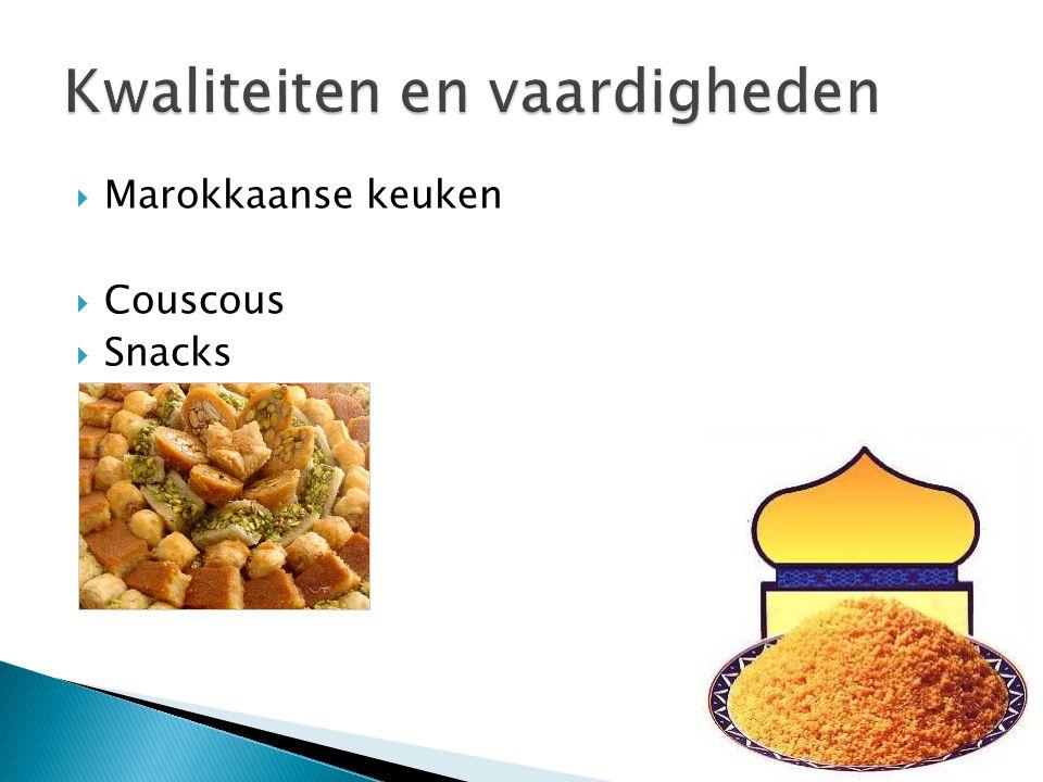 Marokkaanse keuken  Couscous  Snacks