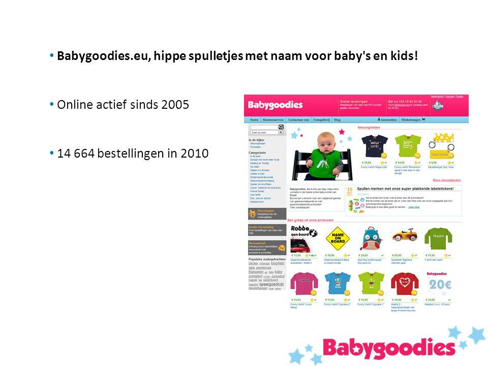 Babygoodies.eu, hippe spulletjes met naam voor baby's en kids! Online actief sinds 2005 14 664 bestellingen in 2010