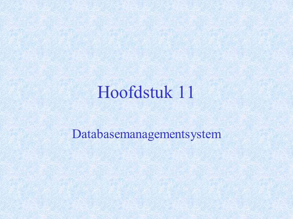 Hoofdstuk 11 Databasemanagementsystem