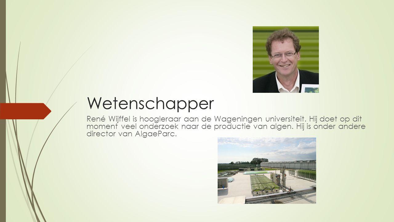 Wetenschapper René Wijffel is hoogleraar aan de Wageningen universiteit.