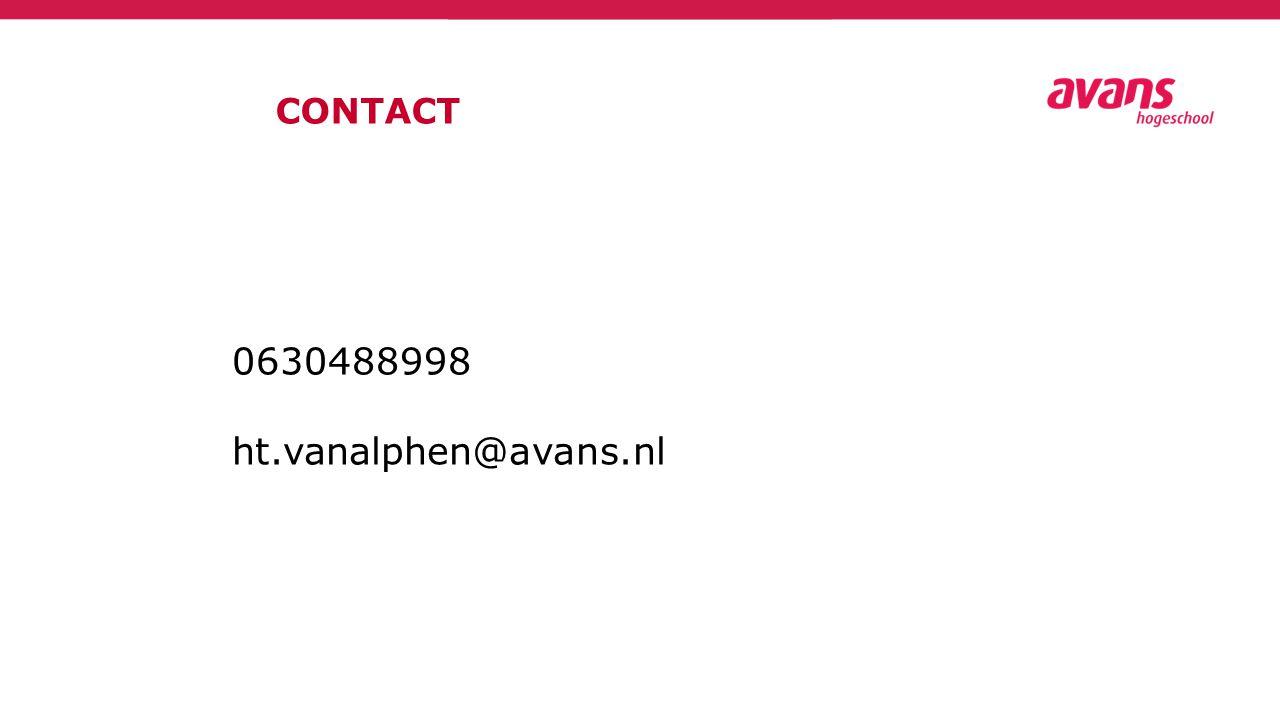 CONTACT 0630488998 ht.vanalphen@avans.nl