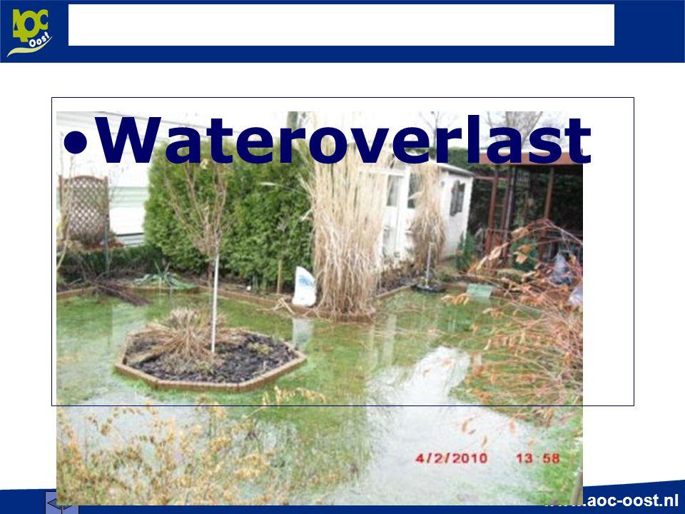 www.aoc-oost.nl Wateroverlast