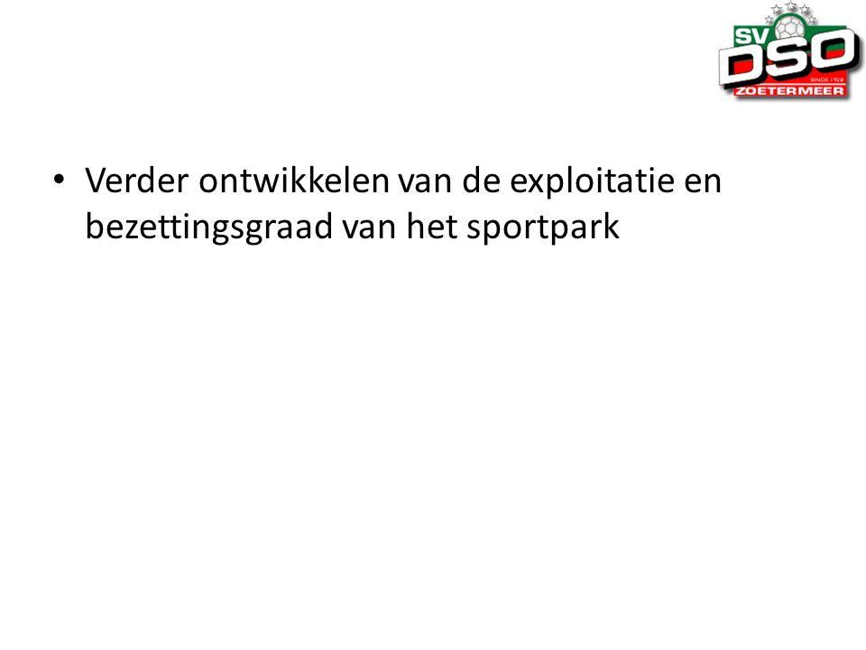 Verder ontwikkelen van de exploitatie en bezettingsgraad van het sportpark