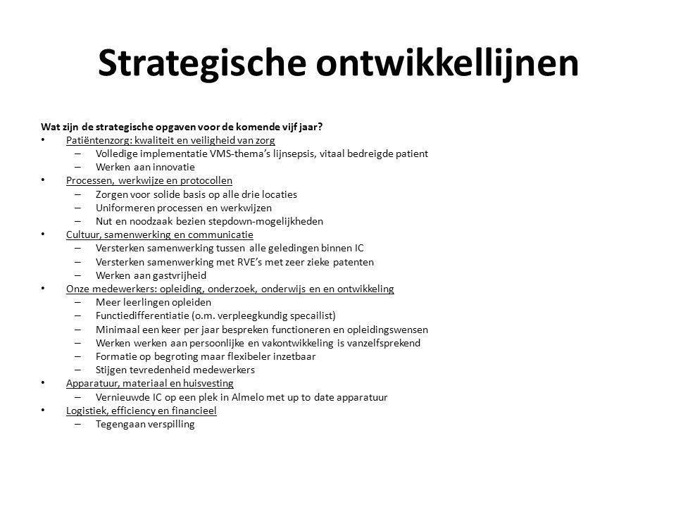 Strategische ontwikkellijnen Wat zijn de strategische opgaven voor de komende vijf jaar? Patiëntenzorg: kwaliteit en veiligheid van zorg – Volledige i