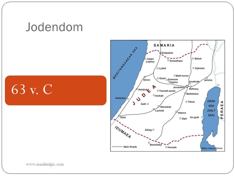 Jodendom www.maaikezijm.com 63 v. C