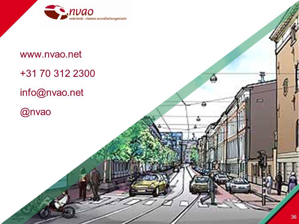 www.nvao.net +31 70 312 2300 info@nvao.net @nvao 36
