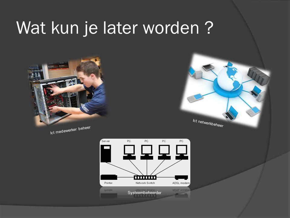 Wat leer je bij ICT