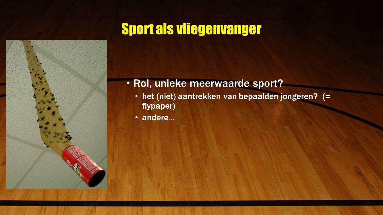 Sport als vliegenvanger Rol, unieke meerwaarde sport.