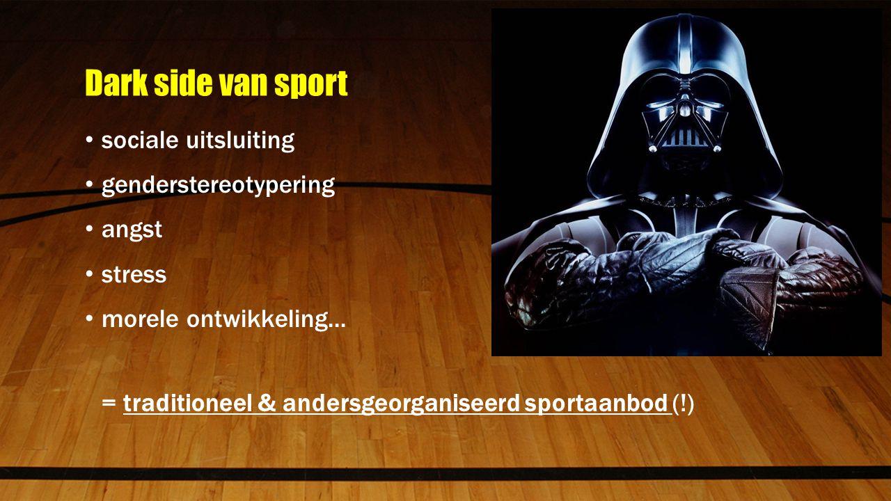 Dark side van sport sociale uitsluiting genderstereotypering angst stress morele ontwikkeling...