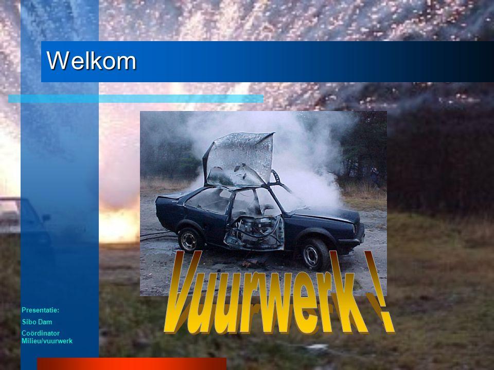Welkom Presentatie: Sibo Dam Coördinator Milieu/vuurwerk