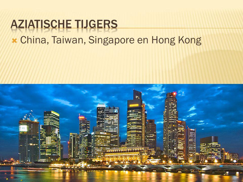  China, Taiwan, Singapore en Hong Kong