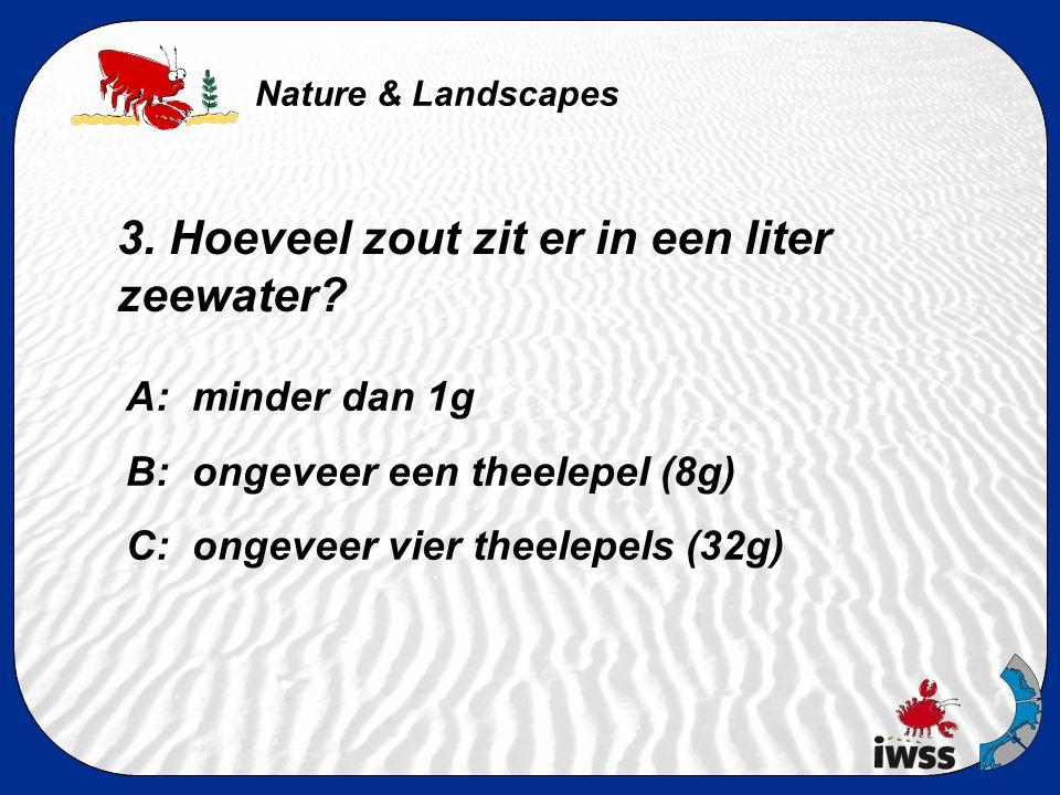 Nature & Landscapes 2. Hoeveel poten heeft een strandkrab A: 6 B: 8 C: 10