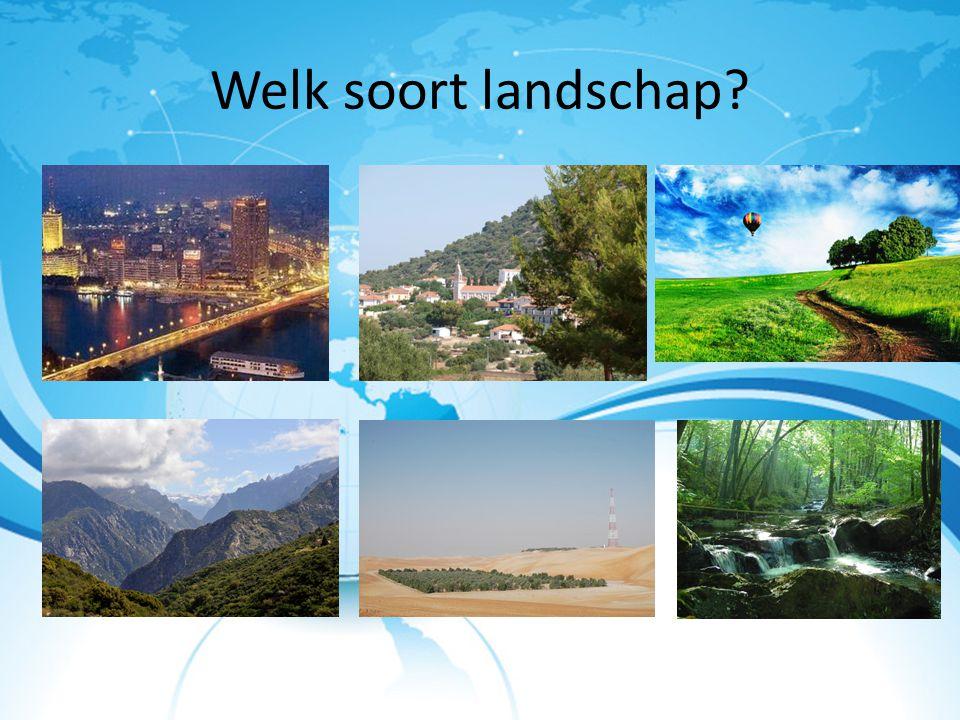 Welk soort landschap?
