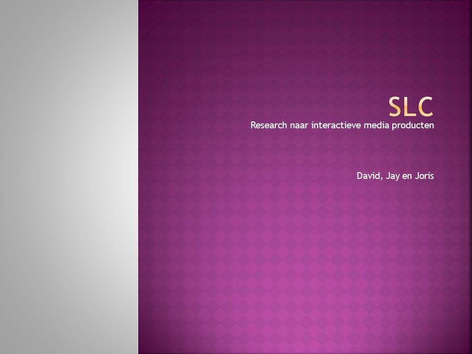 Research naar interactieve media producten David, Jay en Joris