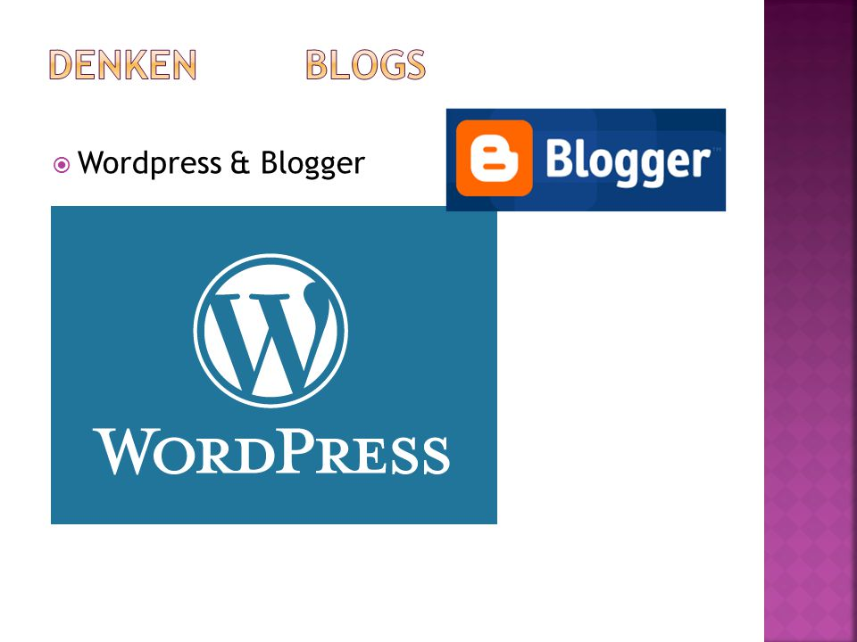  Wordpress & Blogger