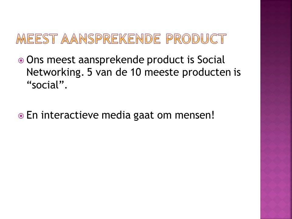  Ons meest aansprekende product is Social Networking.