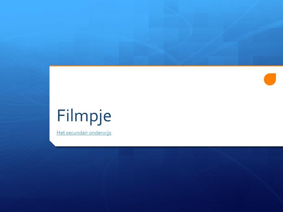 Filmpje Het secundair onderwijs
