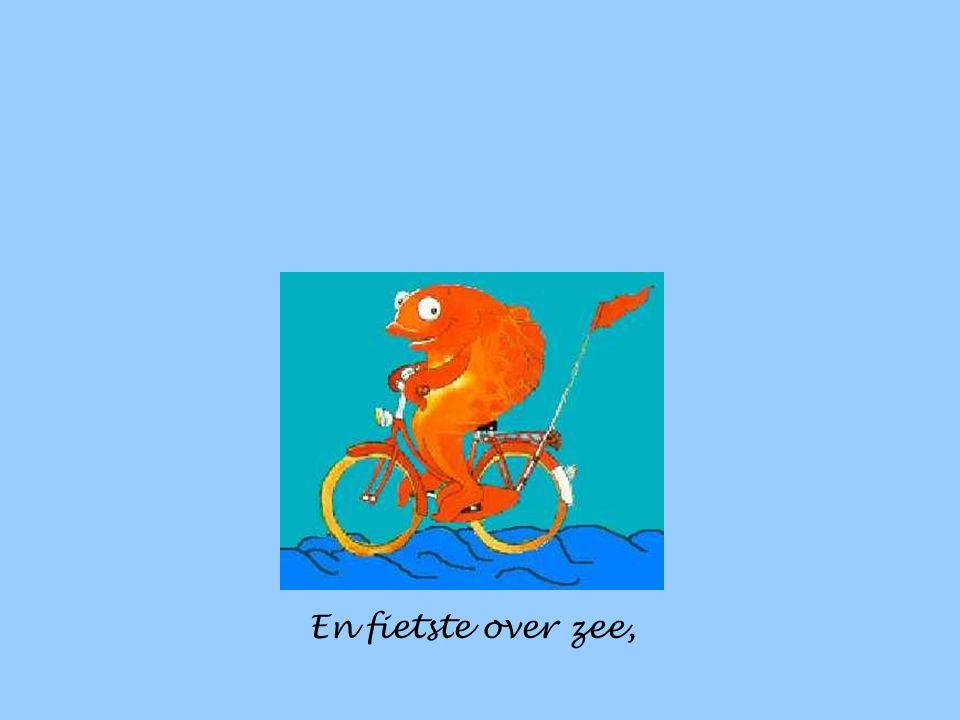 Hij fietste over bergen,