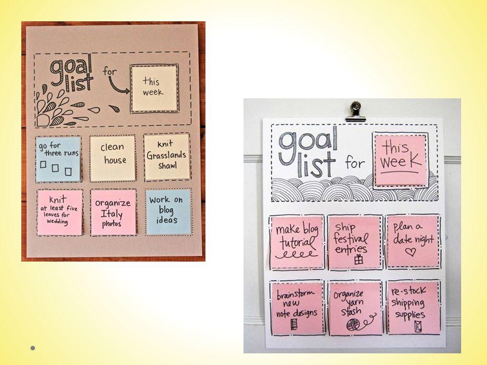 Doelen in Beeld Zet de doelen die je geformuleerd hebt om in beeld; foto, video-fragment, collage, tekening.
